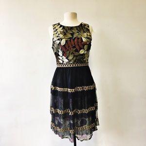Anthropologie Varun Bahl Vigne Embroidered Dress